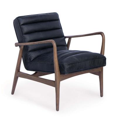 Regina Andrew Piper Chair - Antique Black Leather