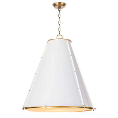 Regina Andrew French Maid Chandelier Large - White & Natural Brass
