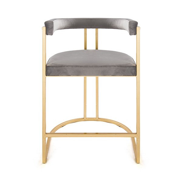 Fantastic Worlds Away Cromwell Counter Stool Gold Grey Gmtry Best Dining Table And Chair Ideas Images Gmtryco