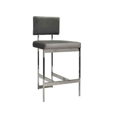 Astonishing Worlds Away Baylor Counter Stool Nickel Grey Gmtry Best Dining Table And Chair Ideas Images Gmtryco