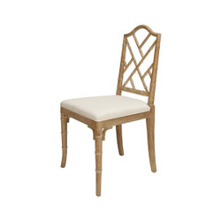 Worlds Away Fairfield Chair - Cerused Oak/Linen