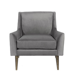 Worlds Away Wrenn Chair - Bronze/Grey Velvet