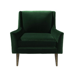 Worlds Away Wrenn Chair - Bronze/Green Velvet