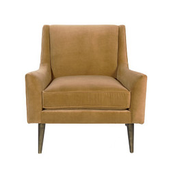 Worlds Away Wrenn Chair - Bronze/Camel Velvet