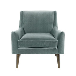 Worlds Away Wrenn Chair - Bronze/Seafoam Velvet