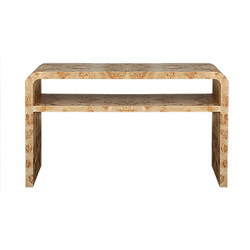 Worlds Away Marshall Console Table - Burl Wood
