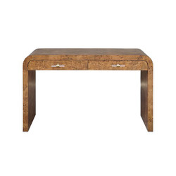 Worlds Away Petra Desk - Burl Wood