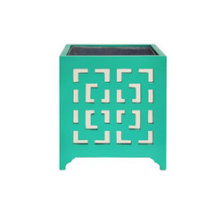 Worlds Away Libby Tray - Planter/Mirror/Turquoise