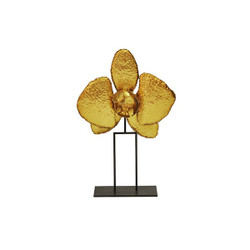 Worlds Away Orchid Sculpture - Gold Leaf