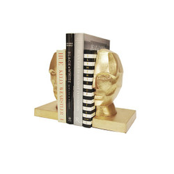 Worlds Away Edmund Bookends - Gold Leaf