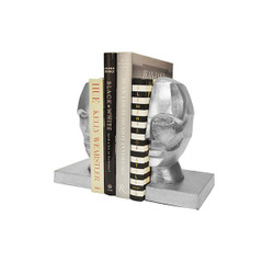 Worlds Away Edmund Bookends - Silver Leaf