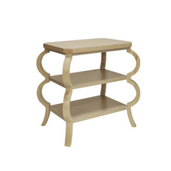 Worlds Away Olive Side Table - Cerused Oak