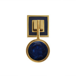 Worlds Away Milan Hardware - Brass/Resin/Marbled Blue