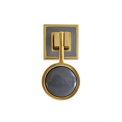 Worlds Away Milan Hardware - Brass/Resin/Grey