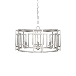 Worlds Away Mckenzie Chandelier - Silver Leaf