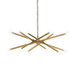 Worlds Away Luisa Chandelier - Antique Brass