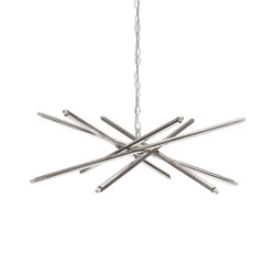 Worlds Away Luisa Chandelier - Nickel