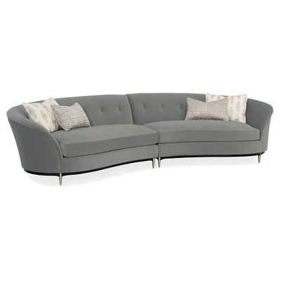 Caracole Three's Company Curved Sectional Sectional