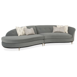 Caracole Three's Company Left Arm Facing Chaise Sectional Sectional