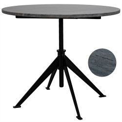 Noir Matilo Adjustable Table - Metal base with Marble Top