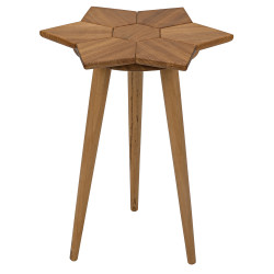 Noir Petal Side Table - Gold Teak