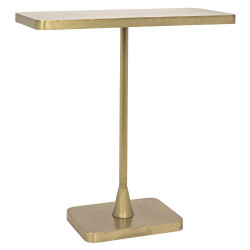 Noir Hild Side Table - Antique Brass
