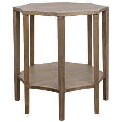 Noir Ariana Side Table - Washed Walnut