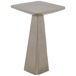 Noir Laura Side Table - Antique Silver