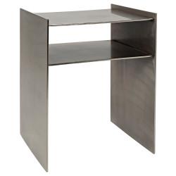 Noir Cyrus Side Table - Antique Silver