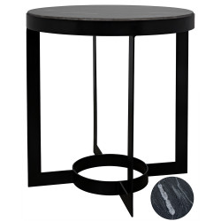 Noir Parker Side Table with Marble