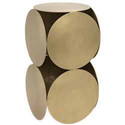 Noir Lola Side Table - Antique Brass