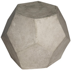 Noir Geometry Side Table/Stool - Fiber Cement
