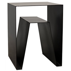 Noir Quintin Side Table - Metal