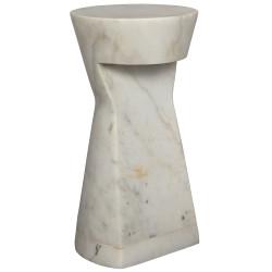 Noir Omon Side Table - White Stone