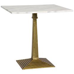 Noir Fadim Side Table - Antique Brass - Cast Iron and Quartz