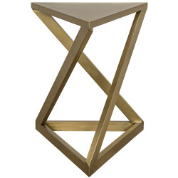 Noir Orpheo Side Table - Antique Brass
