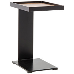 Noir Ledge Side Table - Walnut and Metal