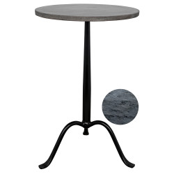 Noir Cosmopolitan Side Table - Metal and Marble