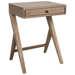 Noir Peter Side Table - Washed Walnut