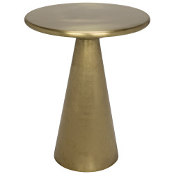 Noir Cassia Side Table - Antique Brass