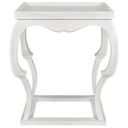 Noir Bellini Side Table - White Wash