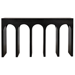 Noir Bridge Console - Hand Rubbed Black