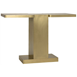 Noir I Console - Antique Brass
