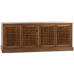 Noir Genti 4Door Sideboard - Dark Walnut
