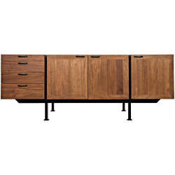 Noir Mind-Croft Sideboard - Walnut and Metal