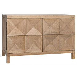 Noir Quadrant 2 Door Sideboard - Washed Walnut