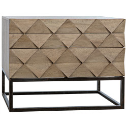 Noir Draco Sideboard with Metal Stand - Washed Walnut