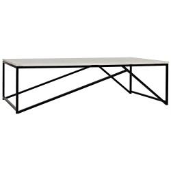 Noir Molimo Coffee Table - Metal and Stone