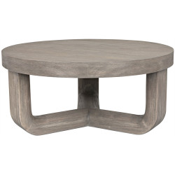 Noir Joel Coffee Table - Distressed Grey