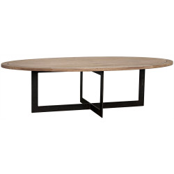 Noir Gauge Coffee Table - Metal - Washed Walnut